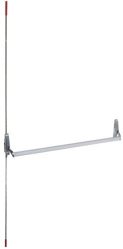 Global Door Controls Concealed Vertical Rod Exit Device in Aluminum