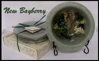 Bayberry Incense - Habersham American Bayberry Wax Pottery Bowl - 7