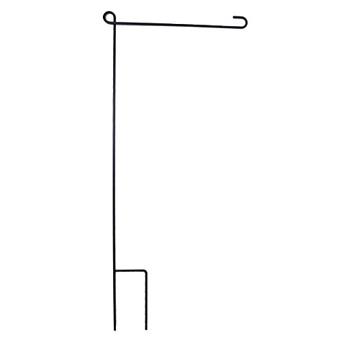 (In the Breeze Garden Flag Pole - 40 Inches High by 16 Inches Wide - Solid One Piece Pole - No Assembly Required - Color: Black)