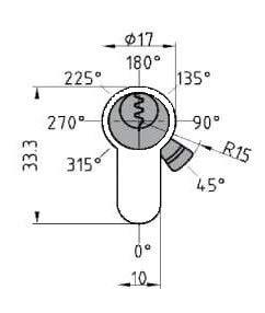 BKS Halbzylinder PZ 8900 Baul/änge: 27mm 27//10 Gesamtl/änge 37mm Hinweistext beachten !! auch Gleichschlie/ßend m/öglich