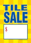 D30TLE ''Tile Sale'' Unstrung Drill Sale Tags (No Strings) Small Price Cards - 3 1/2'' x 5'' (100 Pack) Furniture, Flooring, Business Store Signs