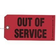 Out of Service Tag (Qty: 50 Units) by J. J. Keller & Associates, Inc.