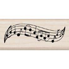 - Inkadinkado Wood Mounted Rubber Stamp M: Music Staff Border