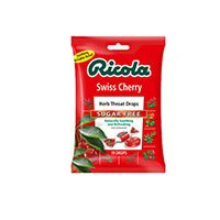 Ricola Herb Throat Drops Sugar Free Swiss Cherry - 45 ct, Pack of 2