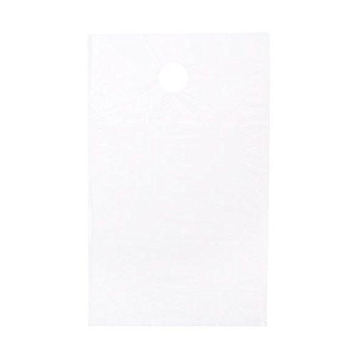 ClearBags 9 x 12 Door Hanger Bags (1000 Bags) for Door Knob Flyers Promotions Coupons | White Plastic Poly Hanging Bags for Mail | Newspaper Bags with Hangers Protect Against Rain, Dirt, Bugs | DK2WB by ClearBags