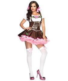 Lil' German Girl Costume - Small/Medium - Dress Size 4-8 (Adult Gretel Costume)