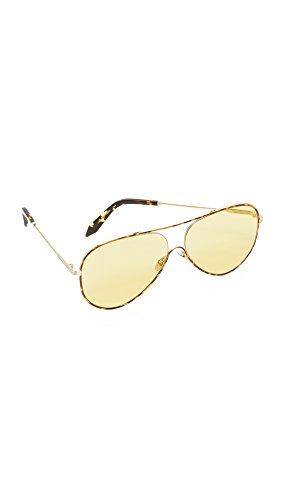 Victoria Beckham Women's Loop Aviator Sunglasses, Tortoise/Lumiere Du Soleil, One - Victoria Beckham Aviator Sunglasses