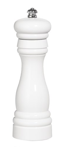 Fletchers' Mill Federal Pepper Mill, White - 6 Inch, Adjustable Coarseness Fine to Coarse, MADE IN U.S.A. ()