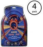 Qpower Super Flex 4-Gauge 3000-Watt Car Audio Amplifier Wiring Amp Kit (4 Pack)