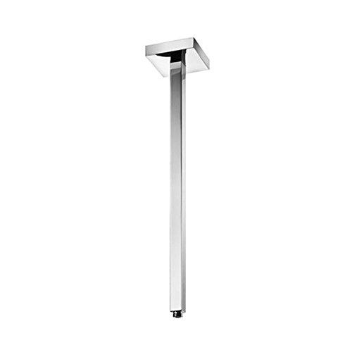 Blu Bathworks TA500S Ceiling-Mount Square Shower Arm, Polished Chrome Finish ()