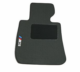 BMW Genuine M Logo Black Floor Mats for E46 - 3 SERIES M3 CONVERTIBLE (2000 - 2006), set of Four