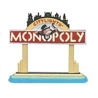 Department 56 Monopoly Lighted Sign 13610