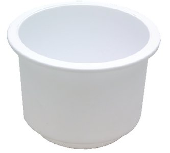 attwood Large Recessed Drink Holder, White,