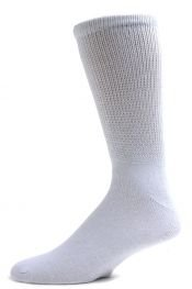 Diabetic Socks, Ultra Light, 12pair, Crew/White Size 9-11