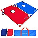 Sipring Toss Game Set Cornhole Board Bean Bag with Carrying Bag Outdoor Toss Game for All Ages