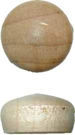 (Maple Screw Hole Plugs - Turned End Grain (Pack of 50) - Tapered Round Top Without Shoulders | Screw Hole Buttons, Furniture Grade + Free Bonus (Skeleton Key Badge) W1-6525)