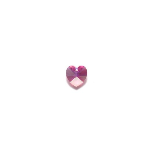 - SWAROVSKI ELEMENTS 6202 Top Hole Heart Beads, Aurora Borealis, Rose, 14mm, 4 Per Pack