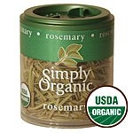 Simply Organic Rosemary Leaf Whole Certified Organic, 0.21-Ounce Containers (Pack of 6) ( Value Bulk Multi-pack)