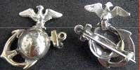 1870's USMC EGA Officer Insignia Sterling; P-1934 (Insignia Usmc Officer)