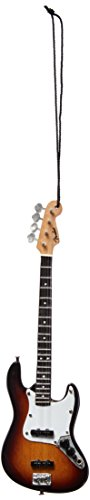 Christmas Bass - Axe Heaven Holiday Ornament Fender 6 Jazz Bass Sunburst