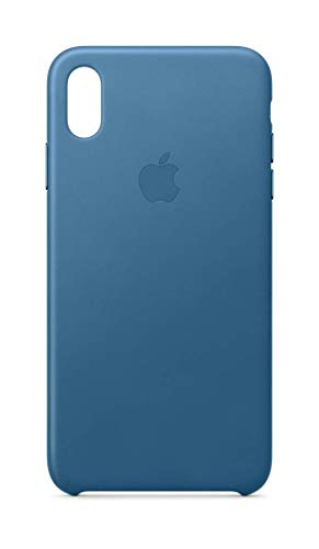 (Apple Leather Case (for iPhone Xs Max) - Cape Cod Blue (Renewed))