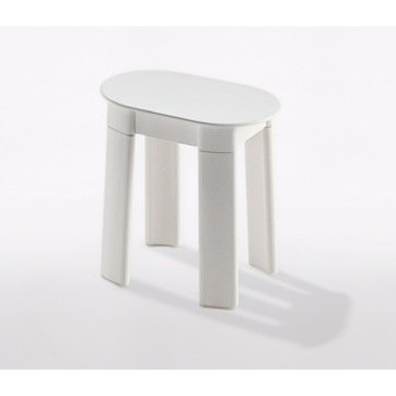 Nameeks 2872 Gedy Bathroom Stool, White