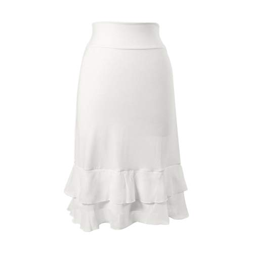 Peekaboo-Chic Iris Chiffon Half Slip Skirt Extender (White, l/XL) by Peekaboo-Chic