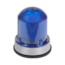 Warning Light, LED, 24VDC, Blue, 65 FPM by Edwards Signaling