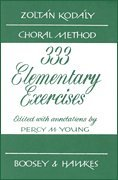 333 Elementary Exercises In Sight Singing (Bh Kodaly)