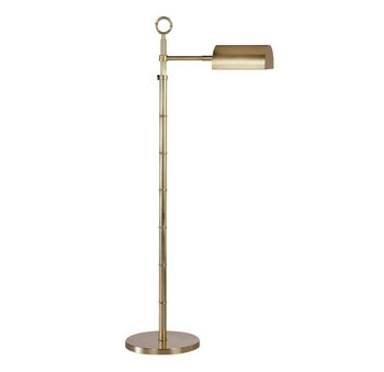Robert Abbey Floor Brass Lamp Antique (Robert Abbey 647 Lamps with Metal Shades, Antique Natural Brass Finish)
