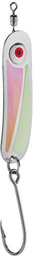 PEETZ Hookum 'Scarface' Spoon Fishing Lure | Ultraviolet Glow & Green Glow in The Dark | Downrigger Trolling Gear with Metal Swivel for Salmon Pike Muskie Trout Bass