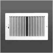 Plastic Side Wall Register (Two-way plastic register side wall/ceiling air register with multi-shutter damper in white (8