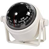 VGEBY Adjustable Navigation Voyager Bracket Mount Compass For Boat Car ( Color : White )