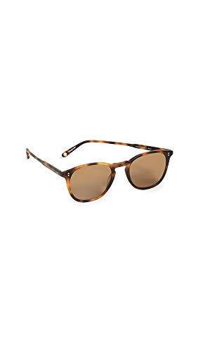 GARRETT LEIGHT Women's Kinney 49 Sunglasses, Brown/Coffee, One Size (Garrett Sunglasses)