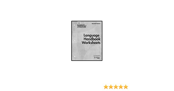 Language Handbook Worksheets Holt Elements of Literature Second ...