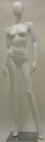 Price comparison product image Brand New Female Full Body Fiberglass Abstract Egg Head Mannequin Matte White (SK11AW)