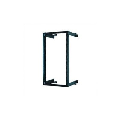 Black Fixed Wall Mount Equipment Rack Size: 24