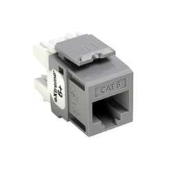 - LEVITON 61110-RG6 Cat6 Jack Gray