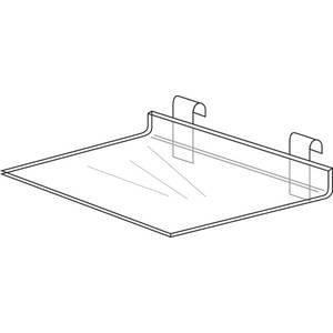 명확한 아크릴 Gridwall 선반, 16x8/Clear Acrylic Gridwall S..