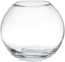 Gigante bola jarron de cristal transparente, el florero de vidrio claro y soplado con la