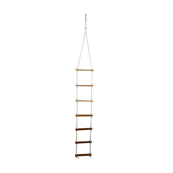 Ashish Rope Climbing Ladder Indoor/Outdoor for Kids - Ninja Ladder, Kid Ladder for 4 to 10 Years (Pink)