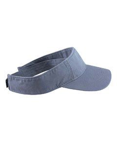 (Authentic Pigment Direct Dyed Cotton Twill Visor Hat Cap - Blue Grass )