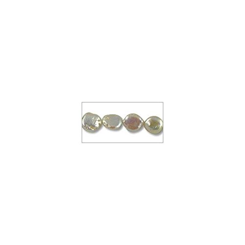(Freshwater Coin Pearl Creme 10-11mm (16