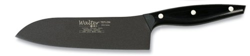 Walter 4788 Teflon 7-7/8-Inch (20 cm) Santoku Knife with Black Handle by Walter