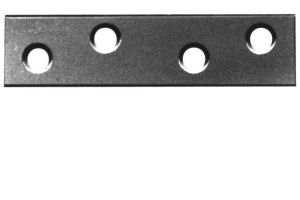 Pack of 10 150mm Mending Plates - Self Colour Perry Hinges
