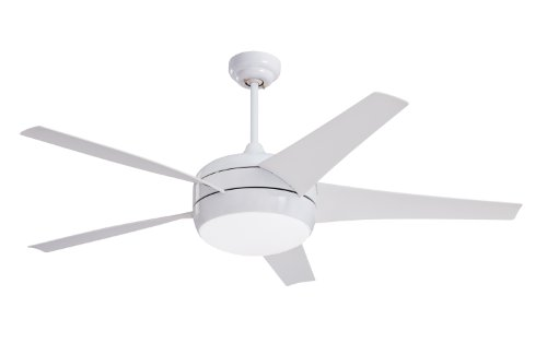 Emerson Ceiling Fans CF955WW Midway Eco Modern Energy Star Ceiling Fan With Light And Remote, 54-Inch Blades, Appliance White Finish by Emerson