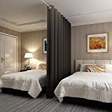 Room Divider Curtain : No one can see through, Total Privacy(10ft Wide x 8ft tall )-Black ()