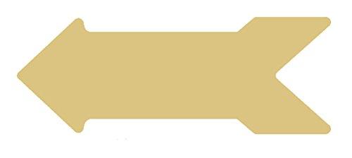 Arrow Style 3 Cutout Arrow Unfinished Wood Shape Cutouts Variety of Sizes USA Made! - Out Cut Arrow