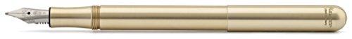 Kaweco Liliput Fountain Pen, Brass, M Nib (Medium)