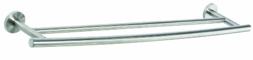 Amerock BH26545-SS Arrondi Collection 24-Inch Double Towel Bar, Stainless Steel Arrondi Collection